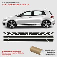 VW Golf 7 R LINE rocker panel decals 2012 - 2019