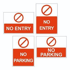 No entry, No parking sign foamex or rigid plastic access entrance A4