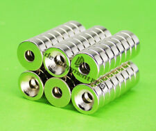 10pcs N50 Countersunk Ring Magnets 15x5mm Hole 5mm Rare Earth Round Neodymium