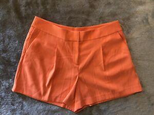 NWT! Ann Taylor Shorts Women's Size 10 Orange pleated pockets
