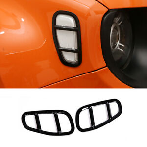 Car Side Lamp Cover Light Trim Styling Lampshade Frame For Jeep Renegade 15-19