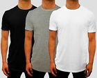 NEW 3 PACK MENS PLAIN CREW NECK T SHIRT EURO FIT S - 3XL CASUAL GYM WORK SPORT