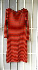 MACGRAW Dress Red Black Stripe Bodycon Stretch Size 8 Winter Womens Ladies