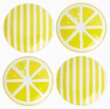 kate spade With A Twist Tidbit Appetizer 4 PC. Plate Set Yellow/White New
