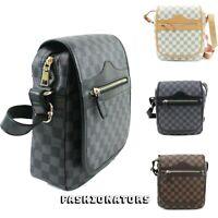 Women's Designer Checkered Shoulder Crossbody Bag Messenger Over Ladies HandBag