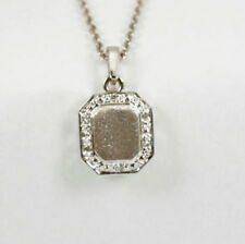 Collares y colgantes de joyería de oro blanco de 14 quilates diamante