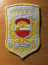 AUSTRIA PATCH POLICE BUNDES GENDARMERIE - ORIGINAL!