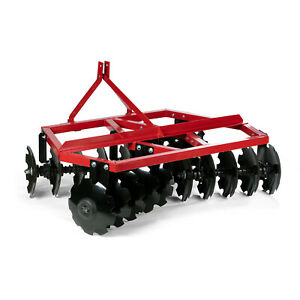 Titan Attachments 4 FT Notched Disc Harrow Plow, Category 1, 3 Point