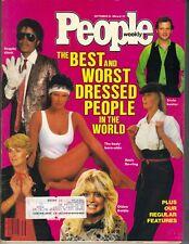 MICHAEL JACKSON BO DEREK People Magazine 9/24/84 BEST WORST DRESSED