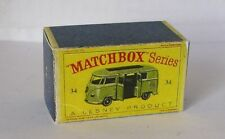 Repro Box Matchbox 1:75 Nr.34 Volkswagen Camping Car grün