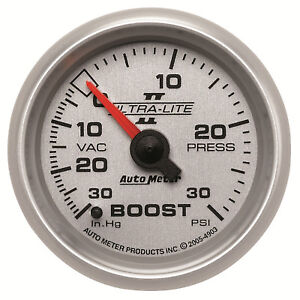 AutoMeter 4903 Ultra-Lite II Vacuum/Boost gauge 2-1/16 in., Mechanical