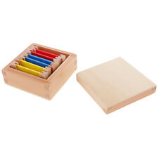 1 Set Small Color Box Montessori Wooden Toys Kids Teaching Learning Material