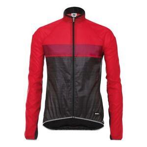 Skin 365 Windbreaker Packable Lightwei Cycling Jacket by Santini in Red - Size S