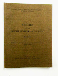 Records South Australian Museum Volume VI No 3 1939 Aborigines & Natural History
