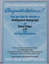 ROMAN REIGNS 2020 TOPPS WWE UNDISPUTED ON CARD AUTO /199
