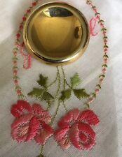 "Vintage 1-3/8"" Gold Tone Dress Scarf Clip Slide Jewelry AB-67"