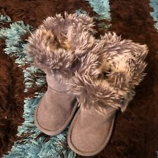 Next Girls Infant High Ankle Fur Boots Size 4