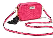 New Victoria's Secret Hot Pink Python Print Gold Crossbody Bag Purse Clutch NWT