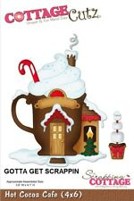CottageCutz HOT COCOA CAFE Metal Die CC4x6-024 Christmas Cutting Plate