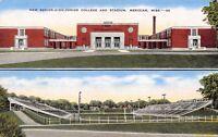 Meridian Mississippi~High School/Junior College & Wildcat Football Stadium 1940s
