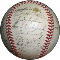 1953 Cleveland Indians Team Signed American League Baseball With JSA COA
