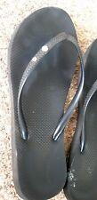 Trashed Black Next Flip Flops Size 8