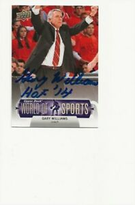 GARY   WILLIAMS   MARYLAND      AUTOGRAPHED    CARD