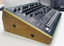 CUSTOM BUILT SOLID OAK WOODEN STAND END CHEEKS FOR ROLAND AIRA TR8 DRUM MACHINE