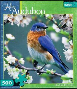 Audubon Bluebird Blossoms 500pc Jigsaw Puzzle 121808 - NEW - SEALED