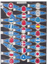 Série complète  Bague de Cigare Vitola Espagne BN115388 Drapeaux du monde 3