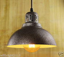 Industrial Retro Rust Iron Metal Shade Ceiling Pendant Light Chandelier Lamp