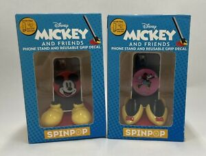 ~NEW~SET OF 2~SPIN POP-DISNEY'Mickey and Minnie'Phone Stand&Reusable Grip Decal