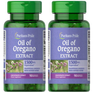 Oil of Oregano Extract 1500mg 2X90 or 1X180 Softgels - Puritan's Pride