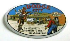 Souvenir-Aufkleber Dodge City Safari-Land Stukenbrock Freizeitpark NRW 80er