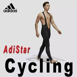 ADIDAS ADISTAR Belgements Padded Cycling Bib Tights SZ-S-M-L-XL BS4715 Black