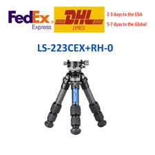Leofoto Ranger Leveling LS-223CEX + RH-0 Mini Tripod for Camera and SLR