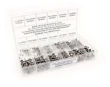 Edelstahl Schraubensortiment DIN7982 Senkkopf TX mit 300 Stück 2,2; 2,9; 3,5;3,9