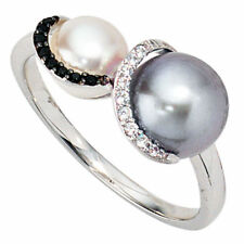 Ringe mit Perlen (17,2 mm Ø) unbehandelte natürliche 54