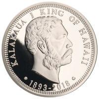 2018 Royal Hawaiian Mint King Kalakaua I 125th 1 oz Silver Gem Proof SKU55900