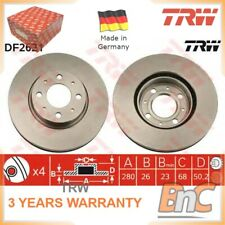2x FRONT BRAKE DISC VOLVO 850 LS 850 ESTATE LW TRW OEM 3516880 DF2621 HEAVY DUTY