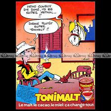 TONIMALT & LUCKY LUKE (Morris) 1984 - Pub / Publicité / Original Advert Ad #A976