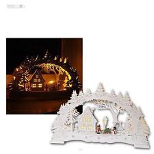 "LED Schwibbogen ""Village"" Lichterbogen, Holz-Fensterleuchter, 10 LEDs warmweiß"