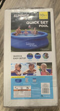 New listing 💦Summer Waves 10'x30 Quick Set Inflatable Above Ground Pool with Filter Pump💦