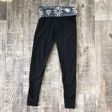 PINK Victoria's Secret Size XS Rhinestone Fold Over Yoga Pants Heart Sequins