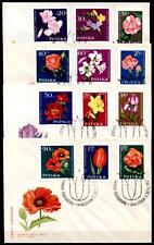 Gartenblumen. 4 FDC. Polen 1964