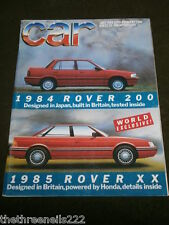 CAR MAGAZINE - 1985 ROVER XX - JULY 1984