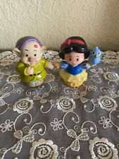 Fisher-Price Little People Disney Princess Snow White and Dopey Dwarf Figures