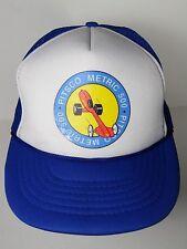 Vtg 1980s Pitsco Metric 500 Dragster Drag Racing Advertising Snapback Hat Cap