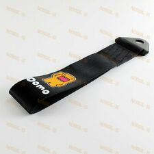 Black Car Tow/ Towing Strap Belt Hook JDM DOMO KUN Racing Drift Rally Universal