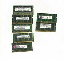 LOT 7X 2GB SODIMM PC2-6400S laptop ram Random Brand (see picture, voir photo)